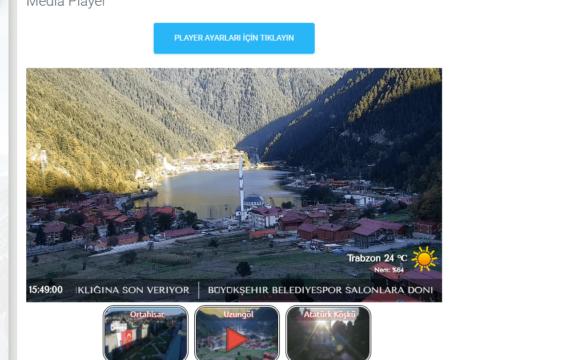 İp Kamera Kontrol Panel Player Ön İzleme