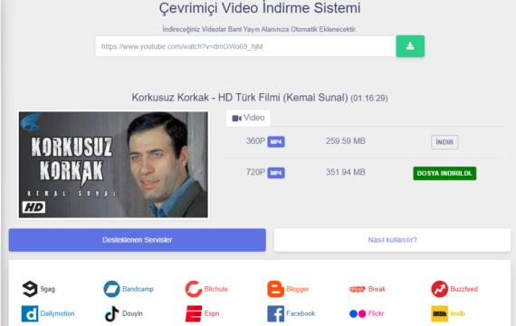 Video İndirme Sistemi